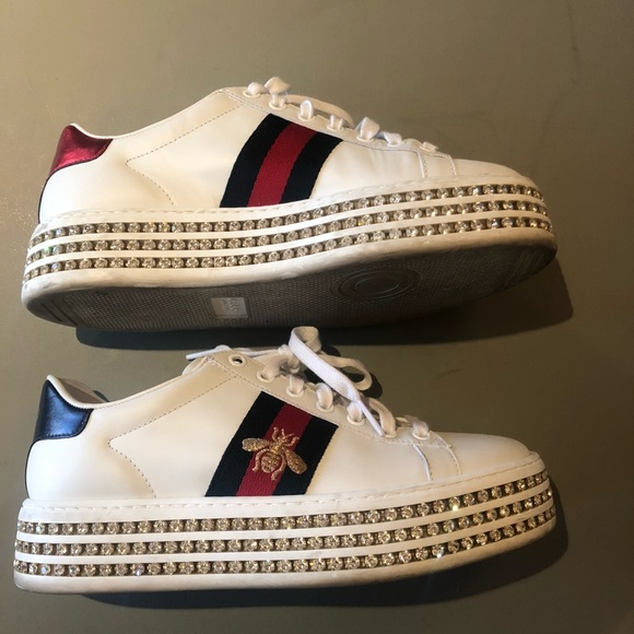 0955d26846b Gucci Shoes - Gucci Ace Sneakers with Crystals